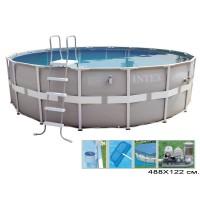 Бассейн с металлическим каркасом увеличенного сечения Intex 488x122 арт.54470