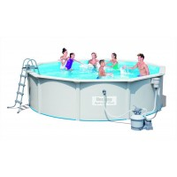 Стальной круглый бассейн 460х120 см Bestway Hydrium с песочным фильтром