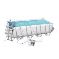 Каркасный бассейн Bestway Rectangular Frame 4,12х2,01х1,22м + песочный фильтр 6000 л/час