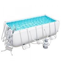 Каркасный бассейн Bestway Rectangular Frame 4,12х2,01х1,22м + песочный фильтр 2006л/час