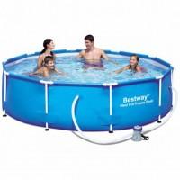 Каркасный бассейн  Bestway 305x76см + фильтр-насос