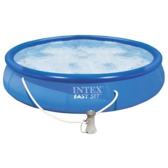 Бассейн с надувным верхним кольцом 305х76см + фильтр-насос Intex 28122