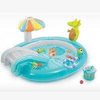Надувной детский бассейн INTEX Игровой центр Крокодильчик, 203х173х89 см, артикул 57129