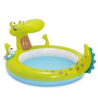 Надувной детский бассейн INTEX Игровой центр Крокодильчик, 198х160х91 см, артикул 57431