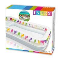 Надувной детский бассейн INTEX Игровой центр 295х175х53 см, артикул 57499