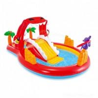 Надувной детский бассейн INTEX Игровой центр Веселый Дино 259x165x107 см, 57160