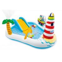 Надувной детский бассейн INTEX Игровой центр Веселая рыбалка 218x188x99 см, 57162