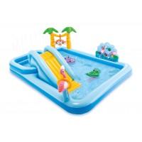 Надувной детский бассейн INTEX Игровой центр Приключения в джунглях 257x216x84 см, 57161