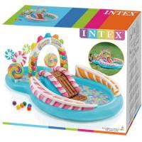 Надувной детский бассейн INTEX Игровой центр Candy Zone 295x191x130 см, артикул 57149