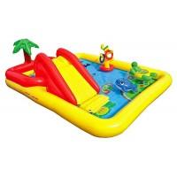 Надувной детский бассейн INTEX Игровой центр 254х196х79 см, артикул 57454