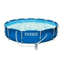 Бассейн каркасный Intex Metal Frame, 366 х 76 см + фильтр-насос