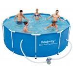Каркасный бассейн  Bestway 305x100см + фильтр насос