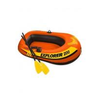 Лодка надувная Intex EXPLORER 200 SET, 2-местная, с ручным насосом и веслами, 185x94x41см