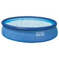 Надувной бассейн INTEX круглый Easy Set 457х91 см, артикул 28160/56410 + тент (чехол)