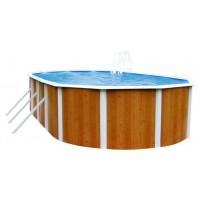 Морозоустойчивый бассейн Atlantic pool Esprit-Big размер 7,3х3,7х1,32 м Comfort овальный