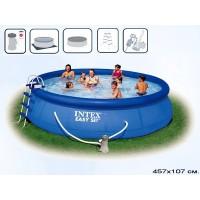 Бассейн бескаркасный с надувным кольцом Intex Easy Set 457x107 (полный комплект)