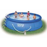 Бассейн бескаркасный с надувным кольцом Intex Easy Set 457x122cm