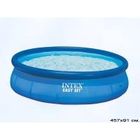 Бассейн бескаркасный с надувным кольцом Intex Easy Set 457x91