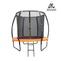 Каркасный батут DFC 5FT-BAS-BO KENGOO II 5ft внутр.сетка, лестница, оранж/черн (152см)