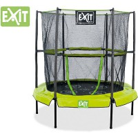 Батут Exit Домашний с сеткой 140 см, green