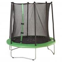 Батут с защитной сеткой 250 х 244 см, зеленый
