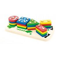 Игрушка деревянная МДИ Клоун сортерпирамидка