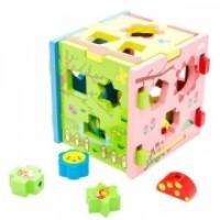 Игрушка деревянная Mapacha Кубик Радужный