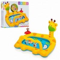 Детский надувной бассейн Intex Жираф с игрушками