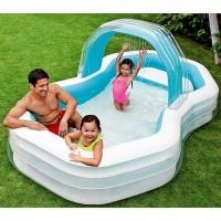 Надувной семейный бассейн INTEX с распылителем 310х188х130см