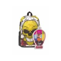 3D Bags Рюкзак Роджер-Роза с наушниками, черный с желтым
