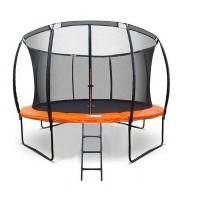 Батут DFC Kengoo 12 футов (366 см) внутр.сетка, лестница, оранжевый/черный (2 кор)