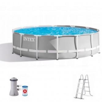 Круглый каркасный бассейн Intex 305х99 с лестницей и насосом